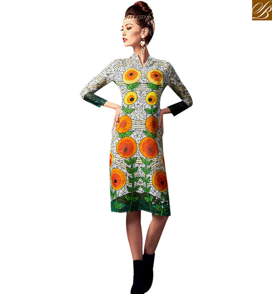 STYLISH BAZAAR SPECTACULAR DESIGNER DIGITAL PRINTED KURTI RNW9030