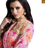 STYLISH BAZAAR INTRODUCES GLITTERING MULTI COLORED PLAZZO STYLE DESIGNER SUIT WITH ATTRACTIVE FLORAL WORK MUG1126