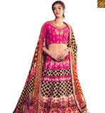 FROM STYLISH BAZAAR MARVELLOUS PINK COLORED DESIGNER DIGITAL PRINTED LEHNGA CHOLI KHW14001