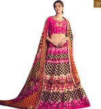 STYLISH BAZAAR MARVELOUS PINK COLORED DESIGNER DIGITAL PRINTED LEHNGA CHOLI KHW14001