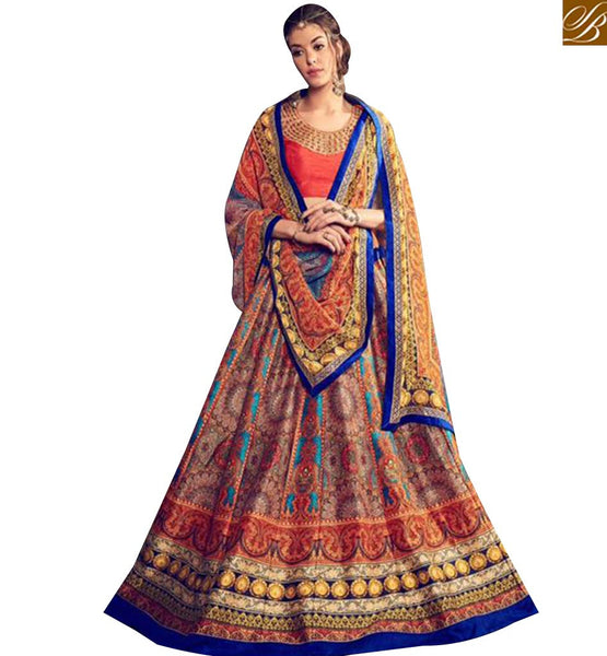 STYLISH BAZAAR SPLENDID DIGITAL PRINTED DESIGNER LEHNGA CHOLI KHW14004