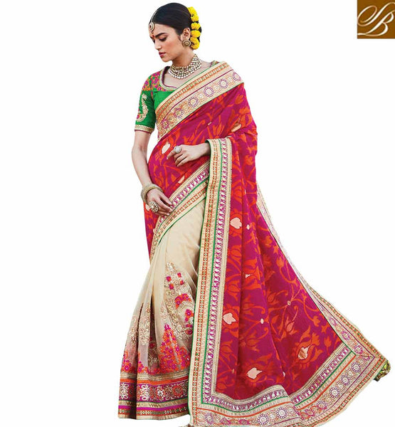 BROUGHT TO YOU BY STYLISH BAZAAR EXCEPTIONALLY WELL DESIGNED BRIDAL WEAR SARI RTDUL43