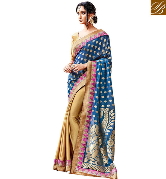 FROM THE HOUSE  OF STYLISH BAZAAR LOVELY DESIGNER PARTY WEAR SARI VDSPR46026