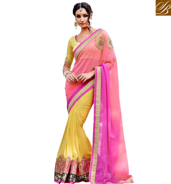 A STYLISH BAZAAR PRESENTATION OUTSTANDING DESIGNER PARTY WEAR SARI VDSPR46029
