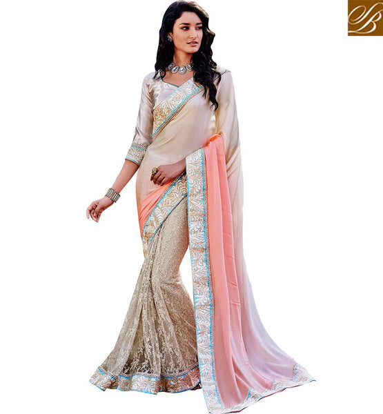 ANGELIC DESIGNER SAREE FOR PARTIES VDSPR43036 BY PINK BEIGE