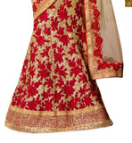 FROM THE HOUSE OF STYLISH BAZAAR DAZZLING CREAM DESIGNER SAREE WITH A MAROON BLOUSE ANRF47