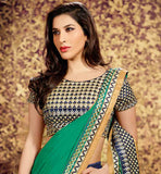 SOPHIE CHAUDHARY DUAL COLOR BEAUTIFUL SARI WITH RICH LOOK BLOUSE WEIGHTLESS GEORGETTE SPECIAL OCCASION WEAR SAREE