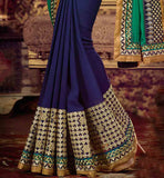 WEIGHTLESS GEORGETTE SPECIAL OCCASION WEAR SAREE WITH RAW SILK CHOLI DESIGNER SAREES ONLINE SHOPPING BOLLYWOOD