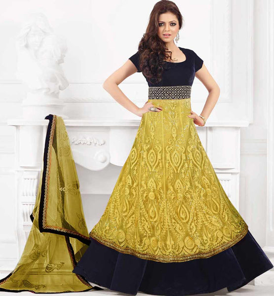 IMAGE OF COLORS TV SERIAL MADHUBALA FAME DRASHTI DHAMI GOWN LOOK DRESS ANARKALI SALWAR KAMEEZ 2015 | DRESSING LONG UMBRELA STYLE DRESS MODEL INDIAN TELIVISION CELEBRITY PIC