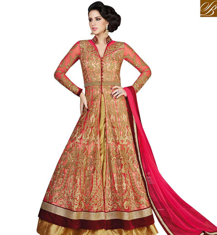STYLISH BAZAAR STRIKING DESIGNER JACKET STYLE ANARKALI SUIT SLSWT4809