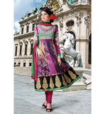 TRENDY PRINTED MULTICOLOR CHURIDAR SALWAR KAMEEZ RTDV48B - stylishbazaar - online shopping salwar kameez, salwar kameez online shop, shop for salwar kameez online, online shopping designer salwar kameez, salwar suit online , Diwali Shopping, Deepawali Shopping, Diwali 2014, Festive Trends 2014