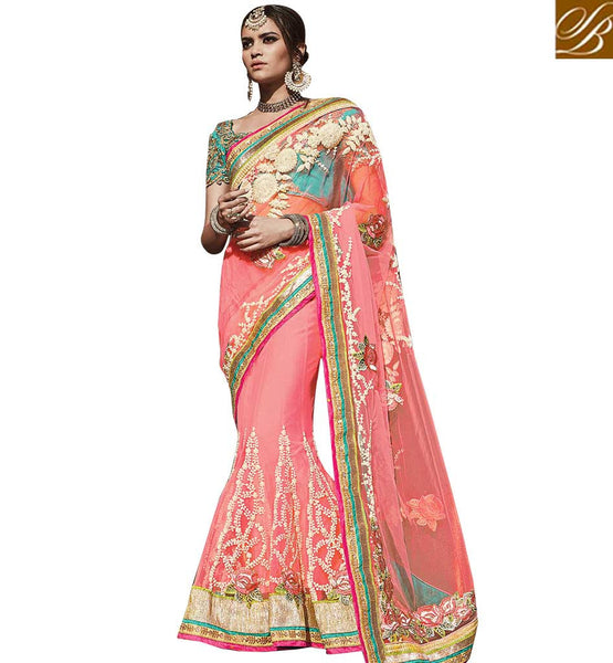 FROM THE HOUSE  OF STYLISH BAZAAR FASHIONABLE WEDDING WEAR SARI BLOUSE DESIGN RTDUL48