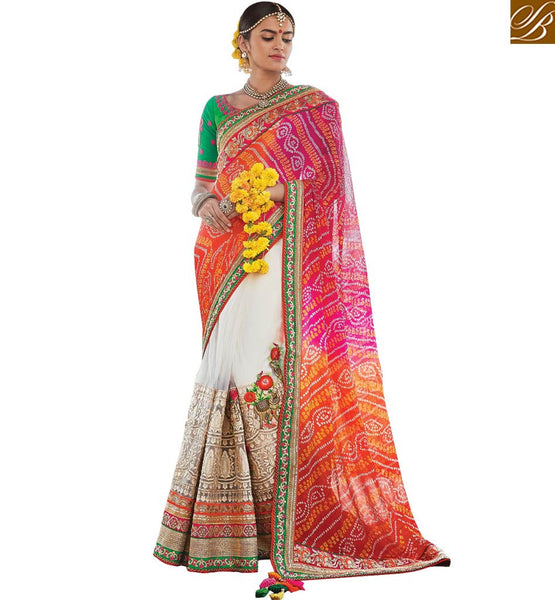 A STYLISH BAZAAR PRESENTATION TRADITIONAL DESIGNER SARI BLOUSE ESPECIALLY FOR WEDDINGS RTDUL49