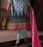 2015 DESIGN LADIES WEAR SALWAR KAMEEZ DRESS MATERIAL SHOP ONLINE GREY