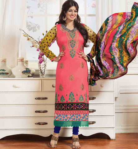 BOLLYWOOD STAR AYESHA TAKIA DESIGNER SALWAR KAMEEZ DRESS MATERIAL