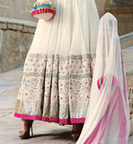 EMBROIDERED ANARKALI DRESS WITH SANTOON SALWAR & DIAMOND WORK DUPATTA