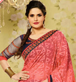 ZARINE KHAN DESIGNER SAREE RAW SILK BLOUSE BOLLYWOOD STYLE CLOTHING