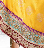 YELLOW GEORGETTE SALWAR KAMEEZ WITH STONEWORK SHOP ONLINE