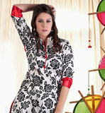 Pakistani style digital print silk long kurti tunic top online shopping cosmos fashion ayesha kurti
