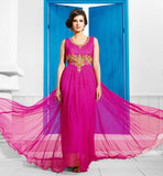 Pink Indian evening gowns  women evening gowns  long evening dresses online shopping