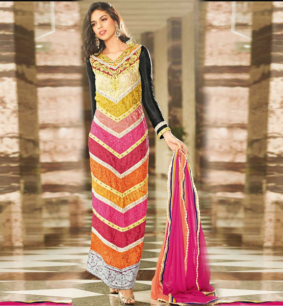 StylishBazaar Wedding wear Long Salwar Kameez with Handwork