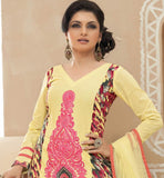 Bhagyashree yellow cotton salwar suit online shopping stylish bazaar