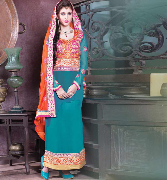 Desinger Long straight cut salwar kameez dresses
