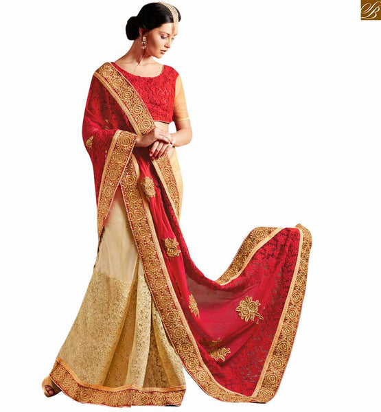 STYLISH BAZAR GORGEOUS MAROON COLORED DESIGNER SARI FOR PARTY WEAR OCCASION ANRF50