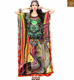 FROM THE HOUSE  OF STYLISH BAZAAR BEAUTIFUL DIGITAL PRINTED KAFTAN DESIGN SKKF5001