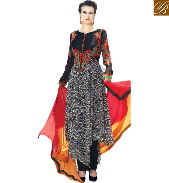 STYLISH BAZAAR BEAUTIFULLY EMBROIDERED DESIGNER SALWAAR KAMEEZ RTELE5001