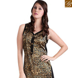 Pakistani style cheetah digital print silk long kurti tunic top online shopping cosmos fashion ayesha kurti