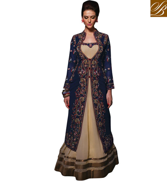 JACKET STYLE DESIGNER INDIAN SALWAR KAMEEZ ANARKALI SHOP ONLINE