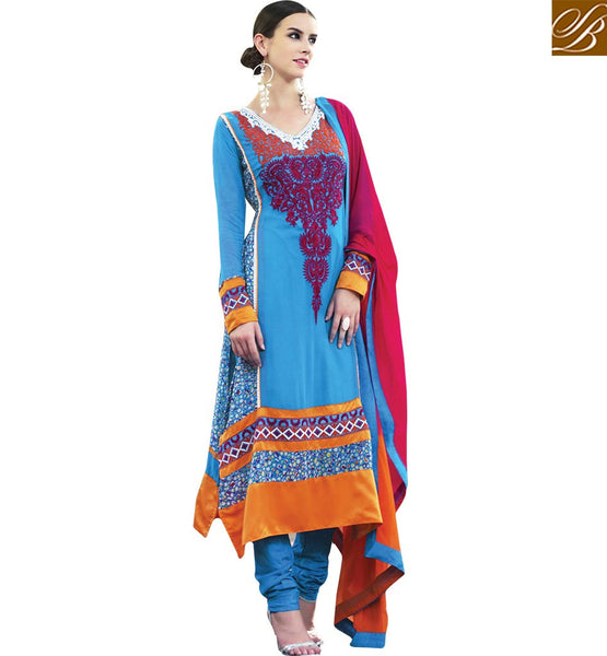 STYLISH BAZAAR STUNNING DESIGNER SALWAAR KAMEEZ SUIT FOR WOMAN RTELE5002