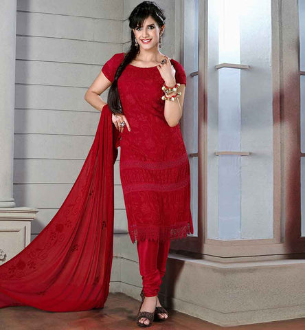 STYLISH BAZAAR LATEST SALWAR SUIT DESIGNS  EYE-CATCHING MAROON CHIFFON DRESS WITH MATCHING SANTOON SALWAR AND DUPATTA