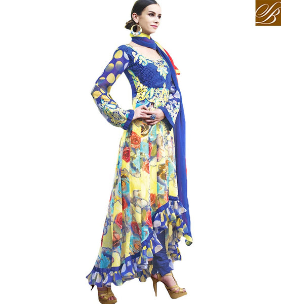 BROUGHT TO YOU BY STYLISH BAZAAR WONDERFUL DESIGNER STEP CUT SALWAAR SUIT FOR PARTIES RTELE5005