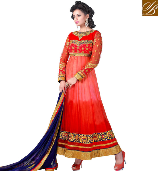 MAJESTIC MAROON NET ANARKALI SUIT RTCN5005 - stylishbazaar -Diwali Shopping, Deepawali Shopping, Diwali 2014, Festive Trends 2014, Ganesh Chaturthi, Navratri, New Year, Nav Varsh, Bhai Bij, Bhai Duj, Raksha Bandhan, Garba, Dandia, salwar kameez online, designer salwar suits, online salwar kameez, party dresses india, party wear dresses
