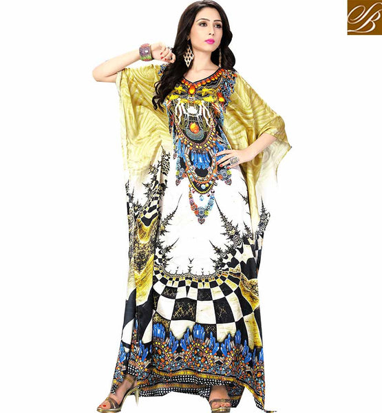STYLISH BAZAAR INTRODUCES REMARKABLE DIGITAL PRINT KAFTAN STYLE FOR PARTIES SKKF5005