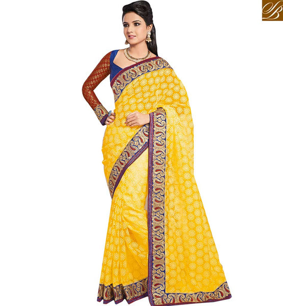 A STYLISH BAZAAR PRESENTATION MARVELOUS DESIGNER SAREES FOR PARTIES RTHTS5005