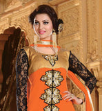 ORANGE PARTY WEAR DRESS RTJHA5006