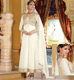 OFF WHITE PARTY WEAR DRESS RTJHA5007