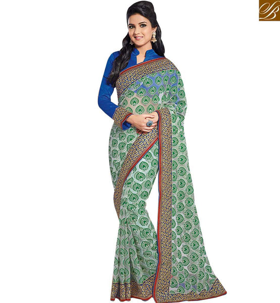 SPLENDIDLY DESIGNED SARIS FOR SPECIAL OCCASIONS RTHTS5007  BY GREEN