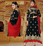 BLACK PARTY WEAR DRESS RTJHA5008