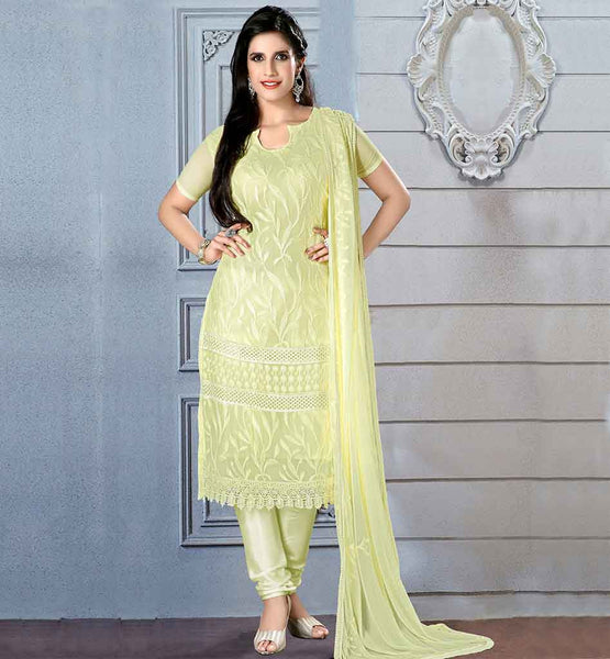 SIMPLE YET STYLISH SALWAR KAMEEZ ONLINE SHOPPING  LOVELY LEMON CHIFFON DRESS WITH MATCHING SANTOON SALWAR AND DUPATTA