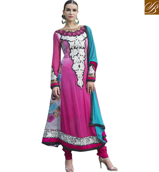 CHARMING DESIGNER STRAIGHT CUT SALWAAR KAMEEZ DRESS SUIT RTELE5009 BY STYLISH BAZAAR
