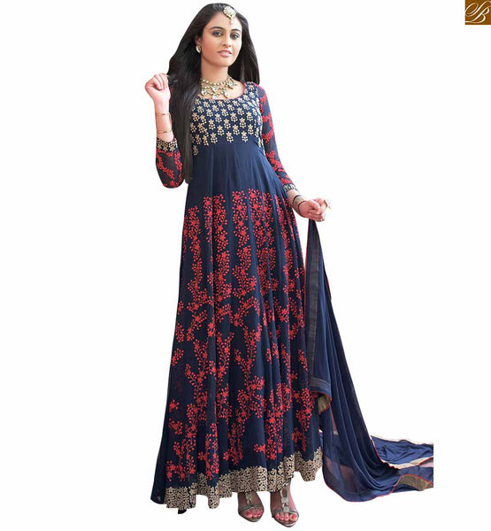 Navy-Blue-georgette-eye-catching-party-wear-long-anarkali-salwar-kameez.-