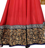 FLOOR LENGHT ANARKALI WITH BROAD HEMLINE