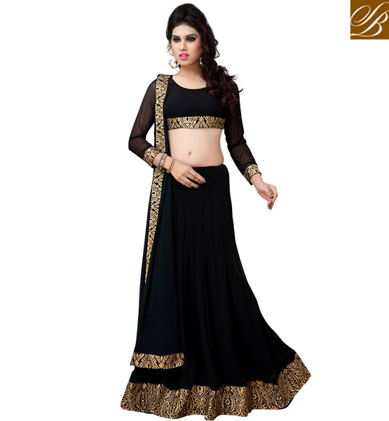 everstylish Designer black lehenga choli online shopping