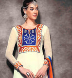 BOLLYWOOD STYLE SALWAR KAMEEZ WITH STUNNING SHADED CHIFFON DUPATTA