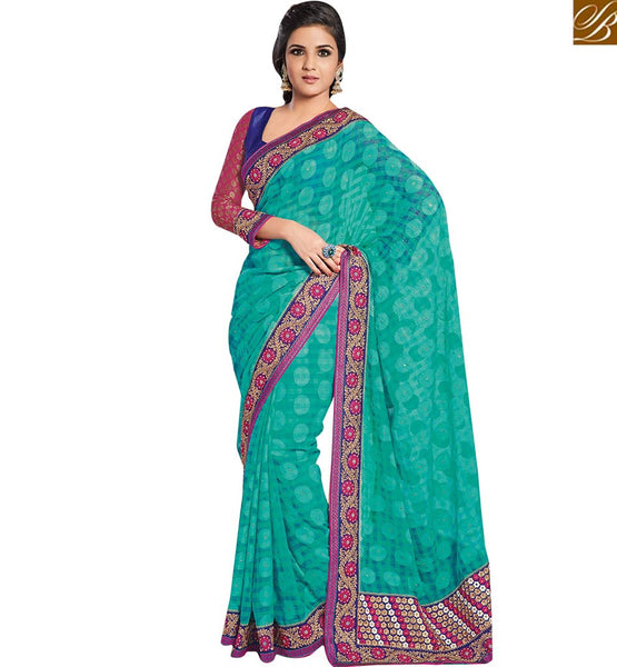 STYLISH BAZAAR ANGELIC DESIGNER PARTY WEAR SAREE AND BLOUSE RTHTS5011