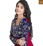 sonal chauhan pink and blue anarkali